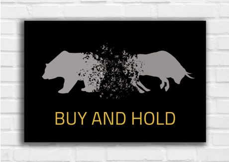 Buy and Hold - Grau/Gelb
